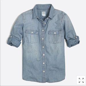J Crew chambray denim shirt